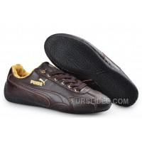 Puma Speed Cat Leather Shoes Chocolate Cheap To Buy CjNw72
