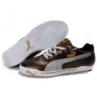 Men's Puma Speed Cat In Brown/Gray/White Discount JK7XDn2