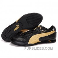 Puma Sprint II Lux NM Shoes Black-Gold Authentic I58hjr