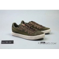 PUMA SUEDE XL Lace 364107 Women Brown Authentic