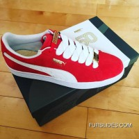 PUMA 50th Anniversary Red White 36--44 Free Shipping
