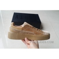 Puma By Rihanna Suede Creepers 36-44 Khaki Velvet Best