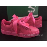 Puma Suede Basket Heart Satin Pink New Style