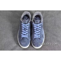 Puma Suede Classic Elemental Women Men Shoes Fur Leather Blue Authentic