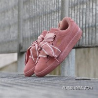 PUMA Suede Heart Satin II 364084-03 ButterFly Pink Authentic