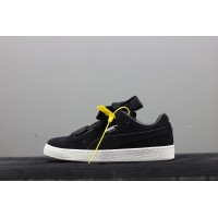 45a71ef02a0 Puma Suede Heart Valentine Jr Black WHite Limited Bow Ribbon Sneakers  365135-02 New Style