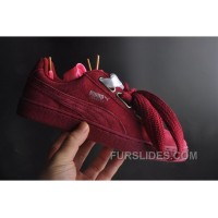 PUMA Basket Heart Patent 36-40 Women Burgundy Cheap To Buy