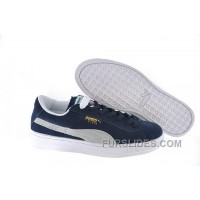 Cheap To Buy Women's Puma Suede Blue-White RmSjh