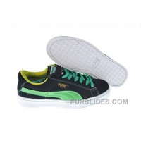 For Sale Women's Puma Suede Black-Green 4NGeaT