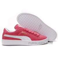 Women's Puma Suede Pink-White Authentic X5dDXPc
