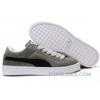 Women's Puma Suede Gray-Black Discount Wipw7N