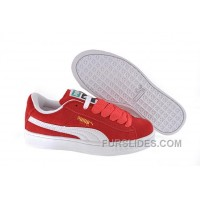 Women's Puma Suede Red-White Discount 2XhnYSF