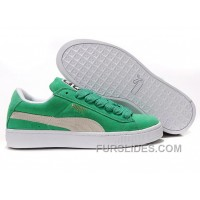 Women's Puma Suede Green-White Lastest SmtPhDC