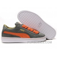 Women's Puma Suede Gray-orange Discount RBtY4