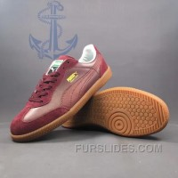 Authentic PUMA Super Liga OG Retro 40-44 Men Burgundy