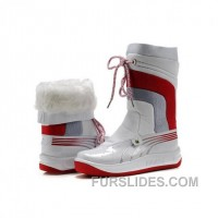 For Sale Women's Puma Tour Cat II Boots White Red SNEB6