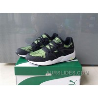 Puma Trinomic Blaze 361340-03 Black Green Free Shipping