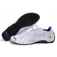 Mens Puma Trionfo Low Baylee In White/Blue Christmas Deals HBjQXF