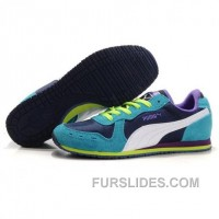Cheap To Buy Women's Puma Usain Bolt Running Shoes Blue Purple White F4Jst3