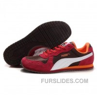 Men's Puma Usain Bolt Running Shoes Chocolate Red White Christmas Deals E5Ft65