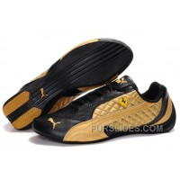 Mens Puma Wheelspin In Black/Golden Top Deals AJ8ndW