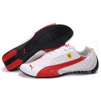Men's Puma Wheelspin In White/Red/Black Super Deals NX6DiBB