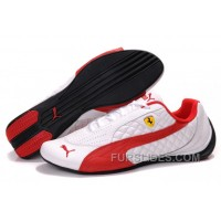 Men's Puma Wheelspin In White/Red Cheap To Buy 8CkQmA