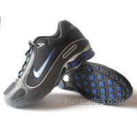 Men's Nike Shox Monster Shoes Black/Blue/Silver Discount