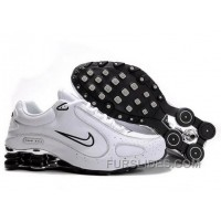 Men's Nike Shox Monster Shoes White/Black/Silver Cheap To Buy