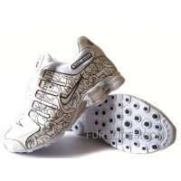 Men's Nike Shox NZ Carpenterworm Shoes White/Black/Offwhite/Silver Top Deals