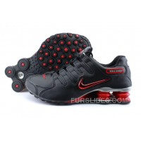 Men's Nike Shox NZ Shoes Black/Brilliant Red/Grey Cheap To Buy
