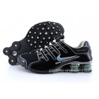 Men's Nike Shox NZ Shoes Black/Grey/Light Blue For Sale