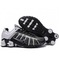 Men's Nike Shox NZ Shoes Black/Grey/White Free Shipping