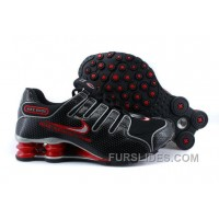 Men's Nike Shox NZ Shoes Black/Red/Grey New Release