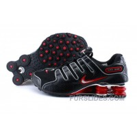 Men's Nike Shox NZ Shoes Black/Red/Silver Authentic