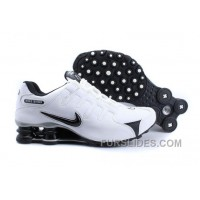 Men's Nike Shox NZ Shoes Black/White/Silver Free Shipping