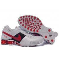 Men's Nike Shox OZ Shoes White/Black/Red/Silver New Release