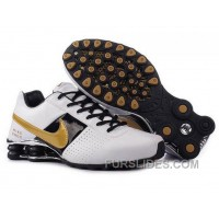 Men's Nike Shox OZ Shoes White/Black/Silver/Golden Free Shipping