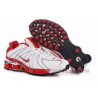 Men's Nike Shox OZ Shoes White/Red/Silver New Release