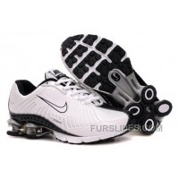 Kid's Nike Shox R4 Shoes White/Black New Release