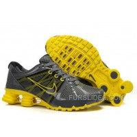Men's Nike Airmax 2009 & Shox R4 Shoes Dark Grey/Yellow Cheap To Buy