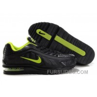 Men's Nike Shox R4 & Air Max LTD Shoes Black/Lime Top Deals