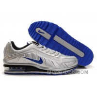 Men's Nike Shox R4 & Air Max LTD Shoes Silver/Blue/Black Super Deals