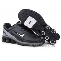 Men's Nike Shox R6 Shoes Black/Grey/White Free Shipping