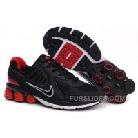 Men's Nike Shox R6 Shoes Black/Red/White For Sale