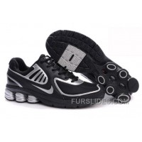 Men's Nike Shox R6 Shoes Black/Silver For Sale