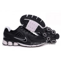 Men's Nike Shox R6 Shoes Black/White Lastest