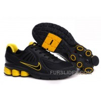 Men's Nike Shox R6 Shoes Black/Yellow New Release