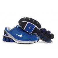 Men's Nike Shox R6 Shoes Blue/Grey/White Cheap To Buy