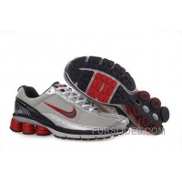 Men's Nike Shox R6 Shoes Grey/Silver/Black/Red Top Deals